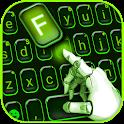 Neon Green Tech Keyboard Theme icon