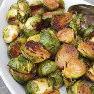 Roasted Brussels Sprouts with Balsamic Vinegar & Honey.