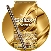 Keyboard for Galaxy Note 8 Gold