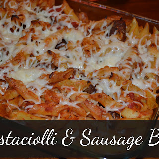 Mostaccioli and Sausage Bake –
