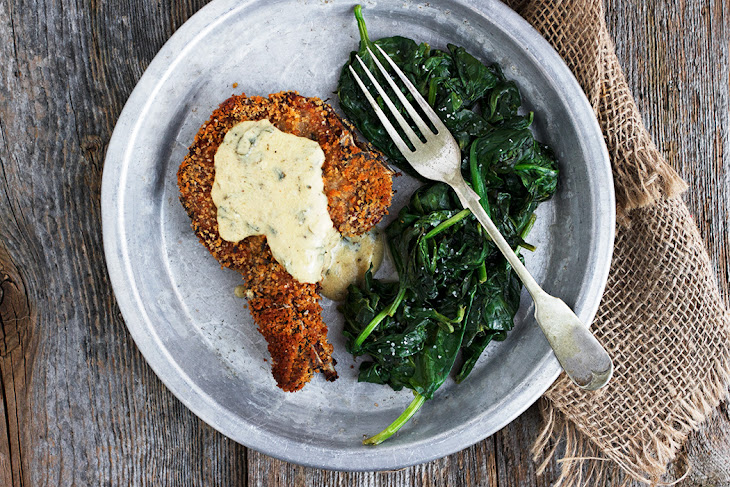 Crispy Breaded Pork Chops with Mustard Sauce Recipe | Yummly
