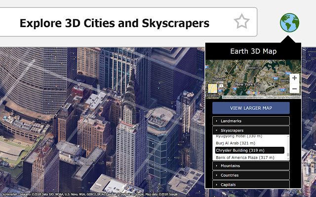 Earth 3D Map on