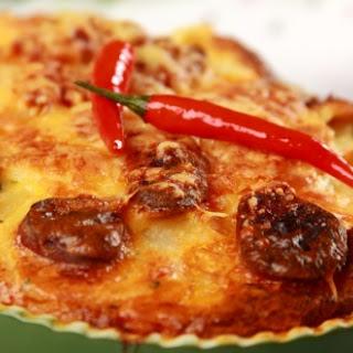 Erdäpfelauflauf mit Chorizo