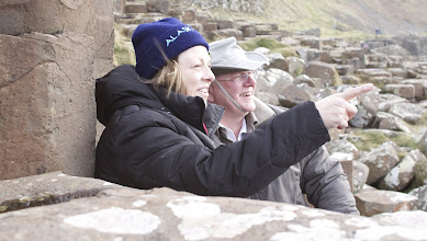 Photo: Jim and his Wife Vallie looking out to sea at the Giants Causeway