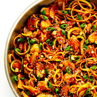 Kung Pao Chicken Noodle Stir-Fry.