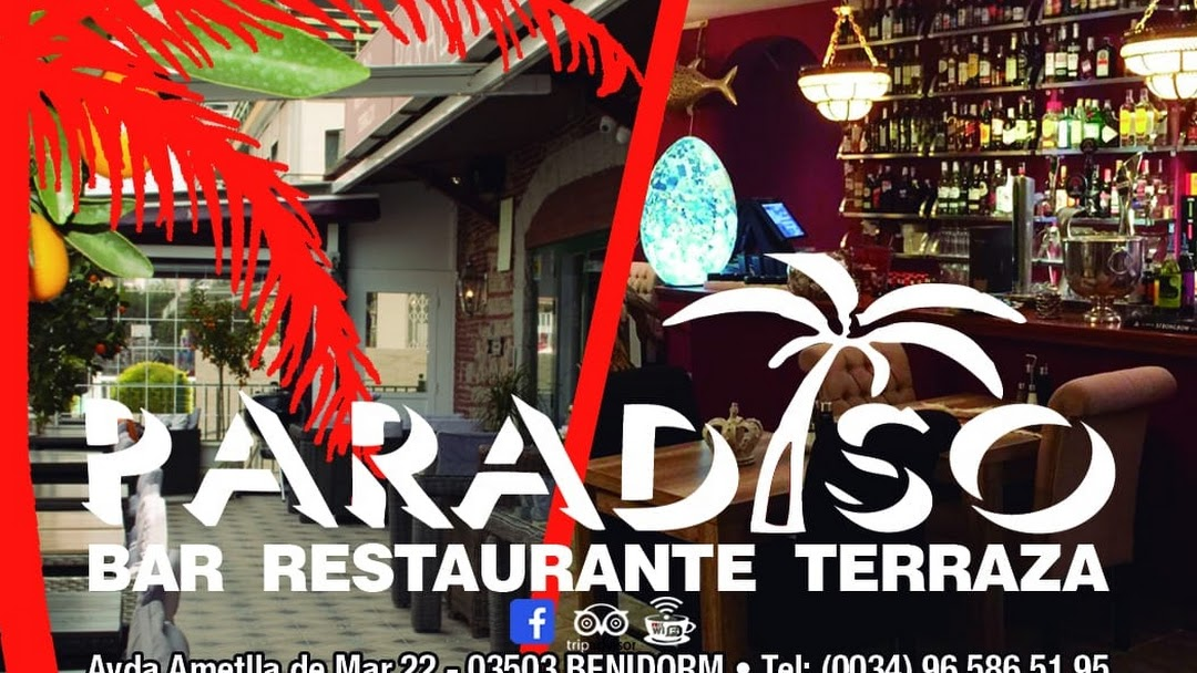 Paradiso Bar Restaurante Terraza Benidorm Restaurant In