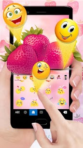 Love Red Stawberry Keyboard Theme 1.0 Mod APK Updated 3