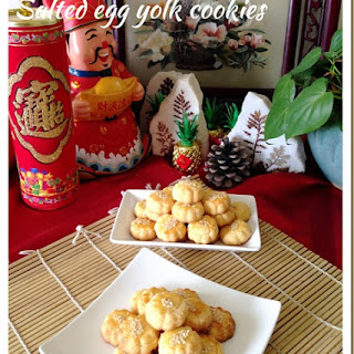 Salted Egg Yolk Cookies (蛋黄酥饼).