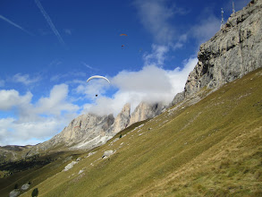 """Photo: Real """"slope soaring"""" at Col Rodella"""