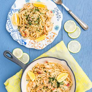Prawn and Lemon Butter Pasta.