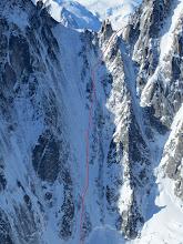 Photo: Col de i'Aiguille Verte - Face North col West