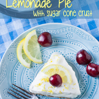 Lemonade Pie with Sugar Cone Crust #SundaySupper