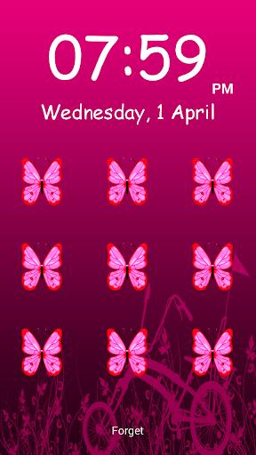 蝴蝶圖案屏幕鎖定