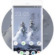 Theme for natural snow landscape creek oppo find x icon