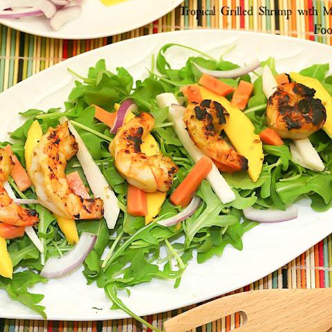 Tropical Grilled Shrimp Salad with Mango