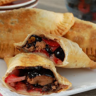Berry Cherry Chocolate Empanadas Recipe