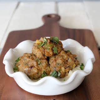 Mango-jalepeño Chicken Meatballs.