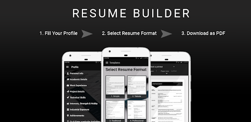 Free Resume Builder Cv Maker Templates Formats App Apps On Google Play