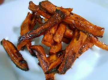 Sweet Potato Fries with sriracha & brown sugar
