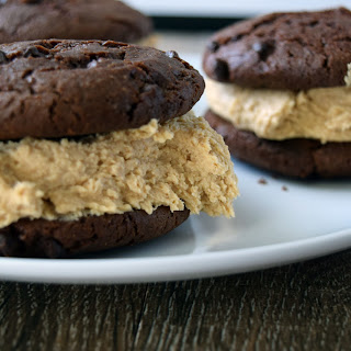 Peanut Butter Frosting & Chocolate Stuffed Cookies
