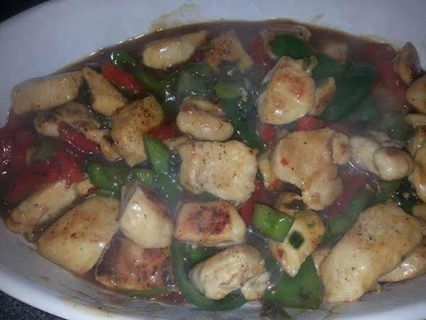Martharaydeen's Mandarin Chicken With Peppers Recipe
