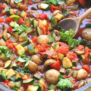 Healthy Pasta Primavera.