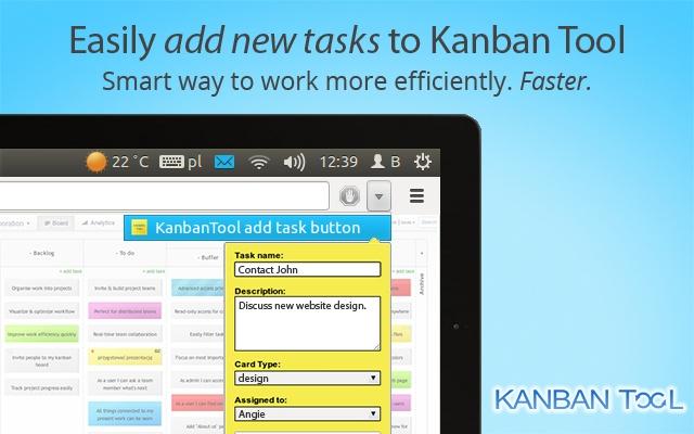 KanbanTool add task button