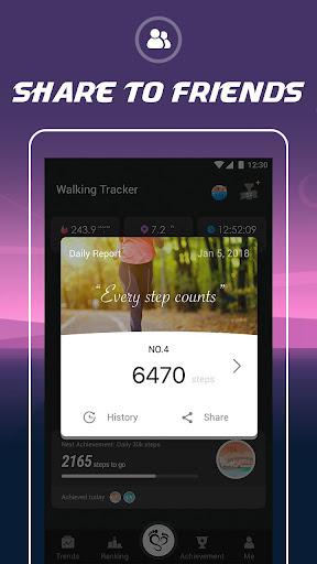 Walking Tracker u2013 Free Step Counter & Pedometer 1.0.0 screenshots 5