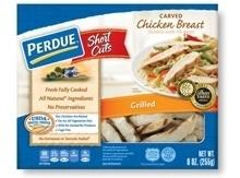 Warm PERDUE® SHORT CUTS® Carved Chicken Breast, Grilled in a skillet for best flavor...