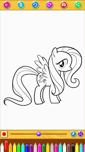 Coloring Book Little Pony screenshot 2