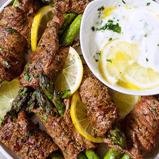 Grilled Asparagus & Steak Fajita Roll-Ups Recipe