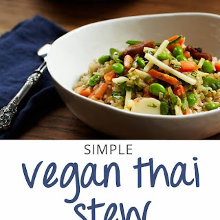 Quick and Easy Thai Vegetable Stew.