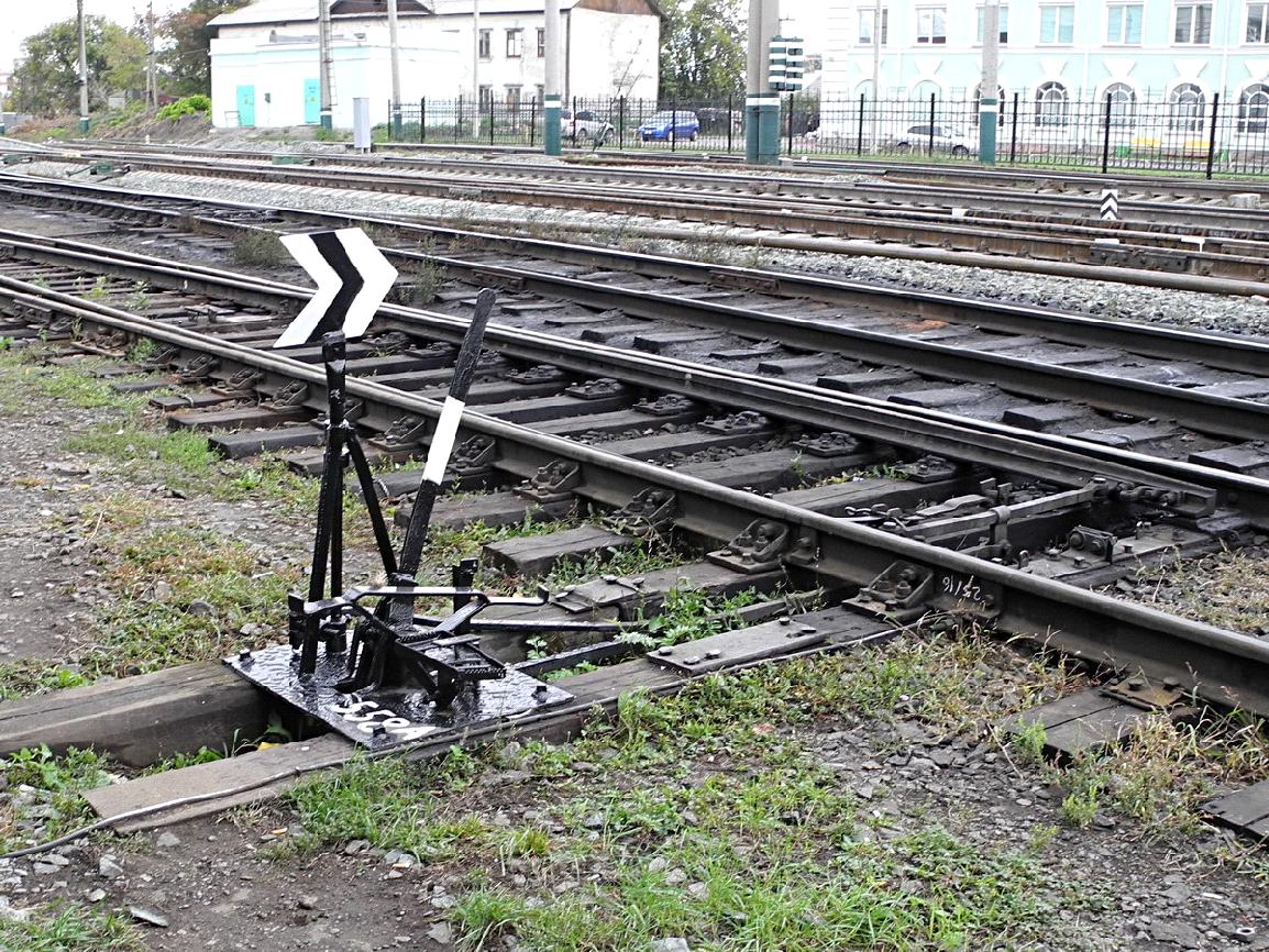 стрелки на железной дороге