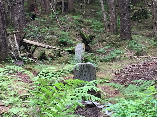 headstone.jpg - A headstone at an old gravesite in Sitka, Alaska.