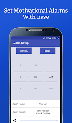 Motivational Alarm Clock - Wake Up Inspired APK screenshot thumbnail 4