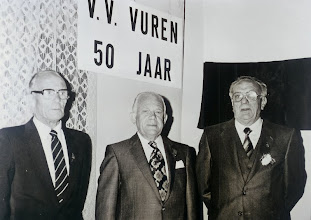 Photo: de 3 oprichters van vv Vuren  vlnr  Wim Roza - Chris v/d Wal en Bertus v an Geffen