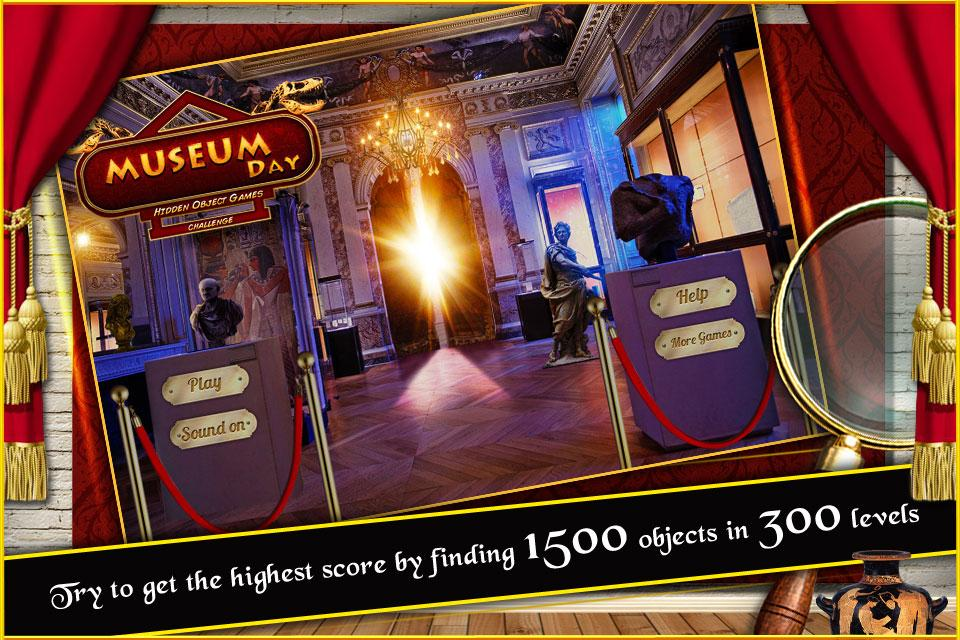 New Free Hidden Object Games Free New Museum Day- screenshot