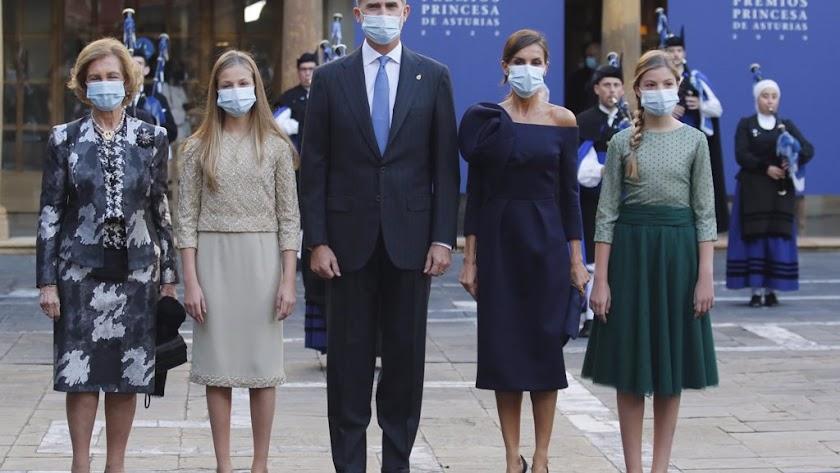 La Familia Real al completo, sin el rey emérito, en los Premios Princesa de Asturias.