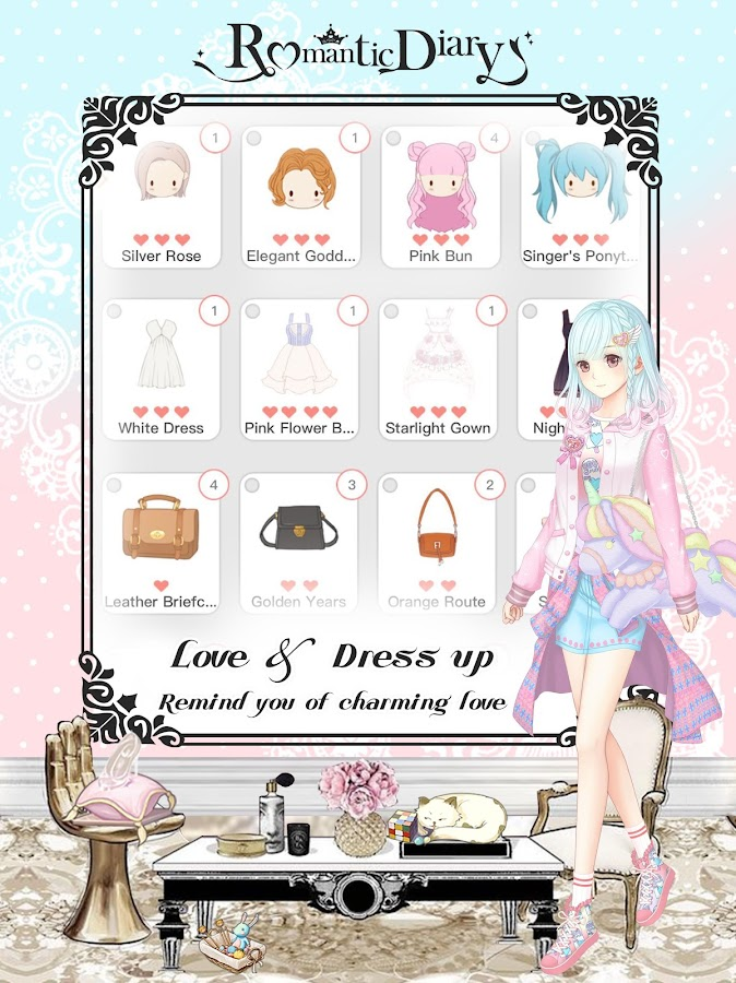 Romantic Diary: Anime Dress Up- screenshot