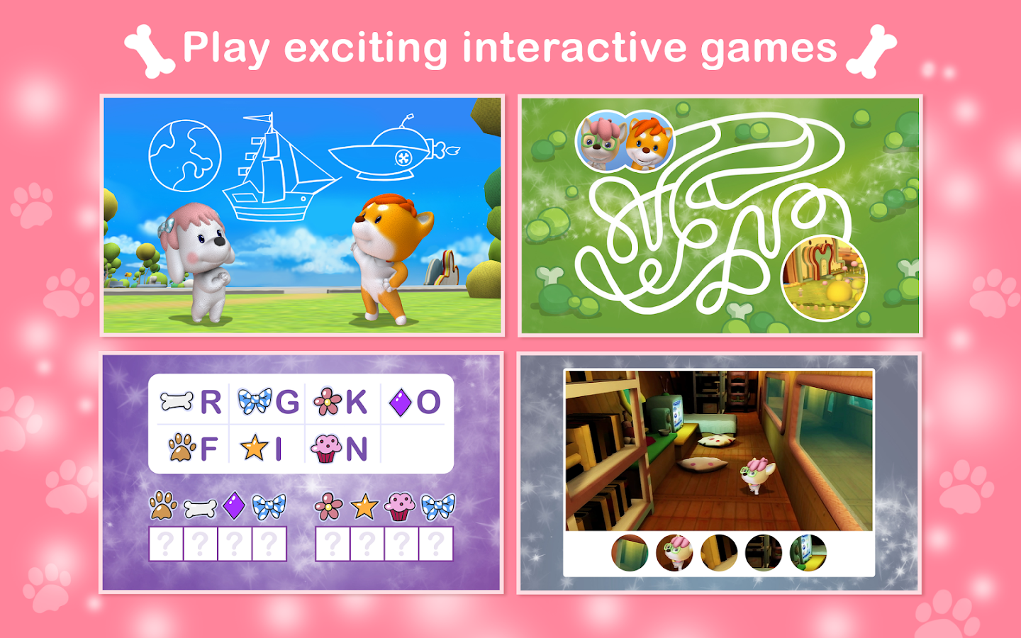 Dibidogs Interactive Activity Books- screenshot