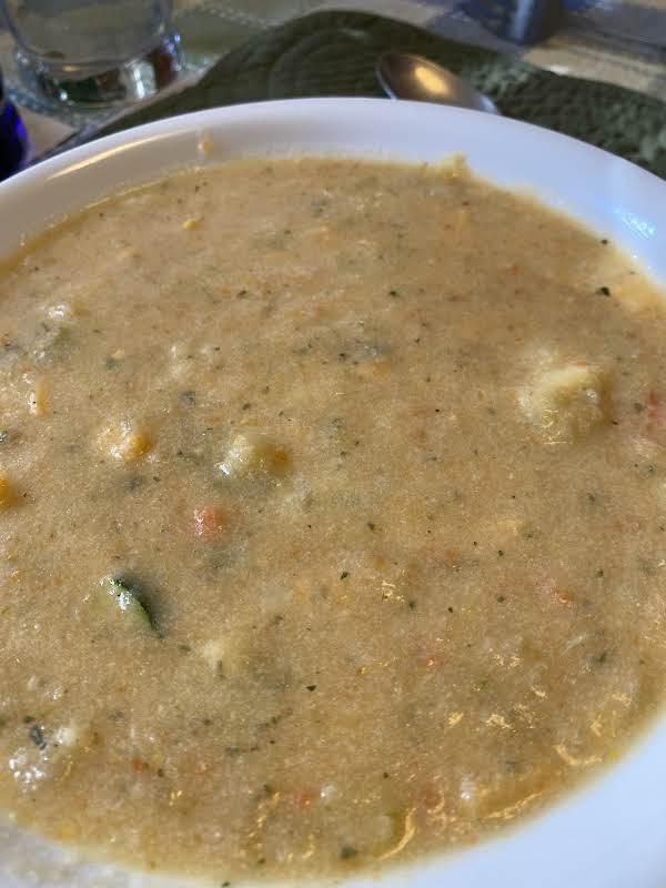 Creamy Cauliflower Vegetable Cheddar Soup