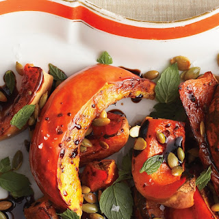 Roasted Squash with Mint and Toasted Pumpkin Seeds recipe | Epicurious.com.