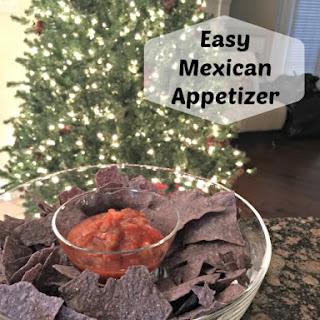 Easy Mexican Appetizer - Salsa & Cream Cheese Dip.