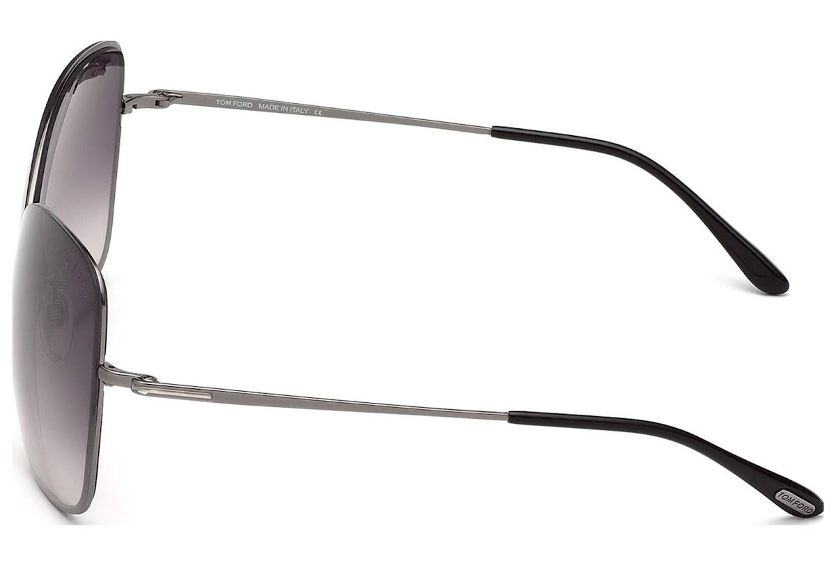 7f3ac2736814e Sunglasses Tom Ford Colette FT0250 C63 08C (shiny gumetal   smoke mirror)