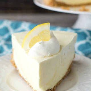 No-Bake Lemon Cheesecake.