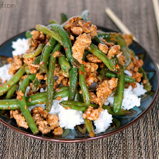 Favorite Chinese Green Beans with Ground Turkey.