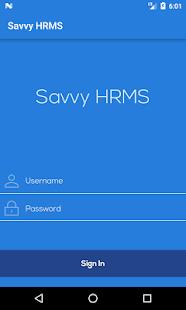 Savvy HRMS - náhled