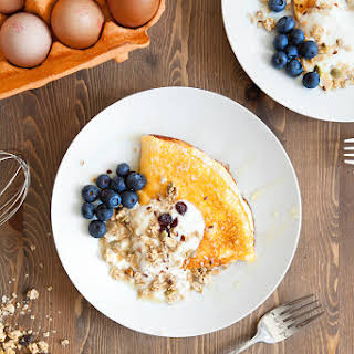 Sweet breakfast omelette. Yes, really! It's delicious!.
