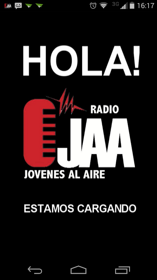 Radio JAA: captura de pantalla