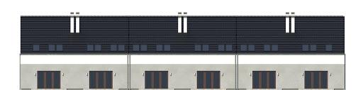 Azalia II z garażem 1-st. szeregówka A-SZ - Elewacja tylna